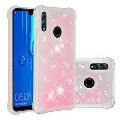 Dynamic Liquid Glitter Sand Quicksand TPU Case for Huawei P Smart (2019) - Silver Powder Star