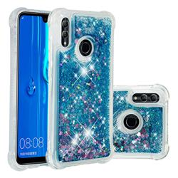 Dynamic Liquid Glitter Sand Quicksand TPU Case for Huawei P Smart (2019) - Blue Love Heart