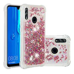 Dynamic Liquid Glitter Sand Quicksand TPU Case for Huawei P Smart (2019) - Rose Gold Love Heart