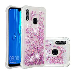 Dynamic Liquid Glitter Sand Quicksand Star TPU Case for Huawei P Smart (2019) - Rose