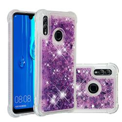 Dynamic Liquid Glitter Sand Quicksand Star TPU Case for Huawei P Smart (2019) - Purple
