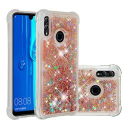Dynamic Liquid Glitter Sand Quicksand Star TPU Case for Huawei P Smart (2019) - Diamond Gold