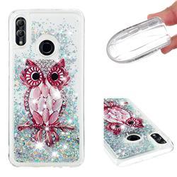 Seashell Owl Dynamic Liquid Glitter Quicksand Soft TPU Case for Huawei P Smart (2019)