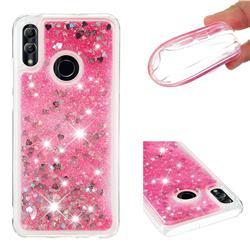 Dynamic Liquid Glitter Quicksand Sequins TPU Phone Case for Huawei P Smart (2019) - Rose