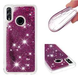 Dynamic Liquid Glitter Quicksand Sequins TPU Phone Case for Huawei P Smart (2019) - Purple