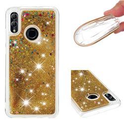 Dynamic Liquid Glitter Quicksand Sequins TPU Phone Case for Huawei P Smart (2019) - Golden