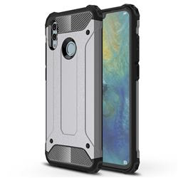 King Kong Armor Premium Shockproof Dual Layer Rugged Hard Cover for Huawei P Smart (2019) - Silver Grey