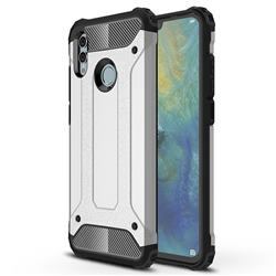 King Kong Armor Premium Shockproof Dual Layer Rugged Hard Cover for Huawei P Smart (2019) - Technology Silver