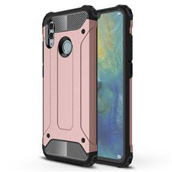 King Kong Armor Premium Shockproof Dual Layer Rugged Hard Cover for Huawei P Smart (2019) - Rose Gold