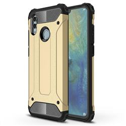 King Kong Armor Premium Shockproof Dual Layer Rugged Hard Cover for Huawei P Smart (2019) - Champagne Gold