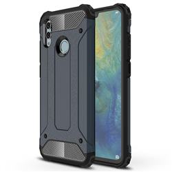 King Kong Armor Premium Shockproof Dual Layer Rugged Hard Cover for Huawei P Smart (2019) - Navy