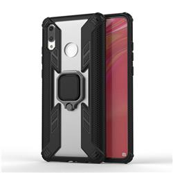 Predator Armor Metal Ring Grip Shockproof Dual Layer Rugged Hard Cover for Huawei P Smart (2019) - Black