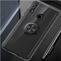 Anti-fall Invisible Press Bounce Ring Holder Phone Cover for Huawei P Smart (2019) - Elegant Black