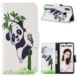 Bamboo Panda Leather Wallet Case for Huawei P Smart (2019)