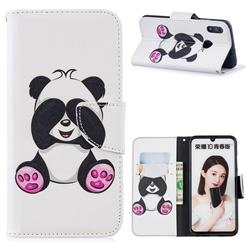 Lovely Panda Leather Wallet Case for Huawei P Smart (2019)