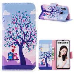Tree and Owls Leather Wallet Case for Huawei P Smart (2019)