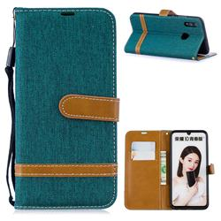 Jeans Cowboy Denim Leather Wallet Case for Huawei P Smart (2019) - Green