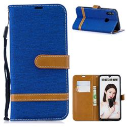 Jeans Cowboy Denim Leather Wallet Case for Huawei P Smart (2019) - Sapphire