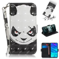 Angry Bear 3D Painted Leather Wallet Phone Case for Huawei P Smart (2019)