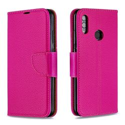 Classic Luxury Litchi Leather Phone Wallet Case for Huawei P Smart (2019) - Rose