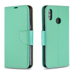 Classic Luxury Litchi Leather Phone Wallet Case for Huawei P Smart (2019) - Green