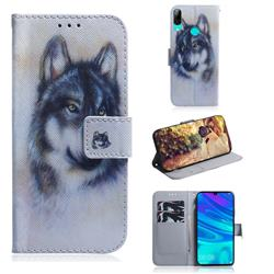 Snow Wolf PU Leather Wallet Case for Huawei P Smart (2019)