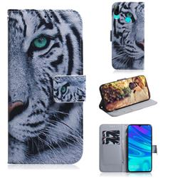 White Tiger PU Leather Wallet Case for Huawei P Smart (2019)