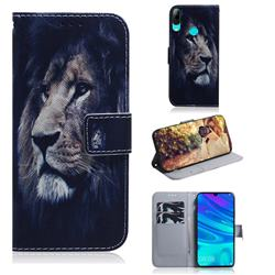 Lion Face PU Leather Wallet Case for Huawei P Smart (2019)