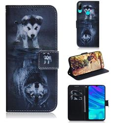 Wolf and Dog PU Leather Wallet Case for Huawei P Smart (2019)