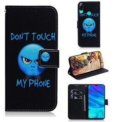 Not Touch My Phone PU Leather Wallet Case for Huawei P Smart (2019)