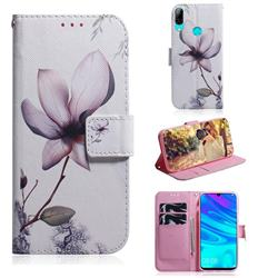 Magnolia Flower PU Leather Wallet Case for Huawei P Smart (2019)