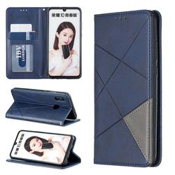 Prismatic Slim Magnetic Sucking Stitching Wallet Flip Cover for Huawei P Smart (2019) - Blue