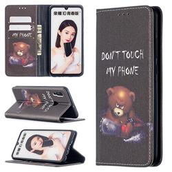Chainsaw Bear Slim Magnetic Attraction Wallet Flip Cover for Huawei P Smart (2019)