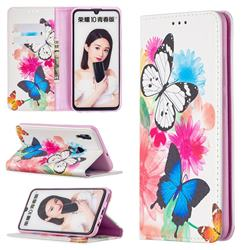 Flying Butterflies Slim Magnetic Attraction Wallet Flip Cover for Huawei P Smart (2019)
