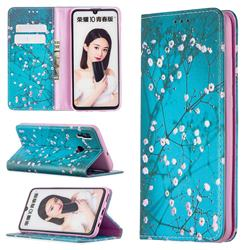 Plum Blossom Slim Magnetic Attraction Wallet Flip Cover for Huawei P Smart (2019)