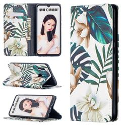 Flower Leaf Slim Magnetic Attraction Wallet Flip Cover for Huawei P Smart (2019)