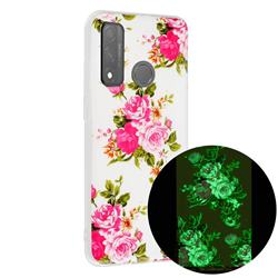 Peony Noctilucent Soft TPU Back Cover for Huawei P Smart (2020)