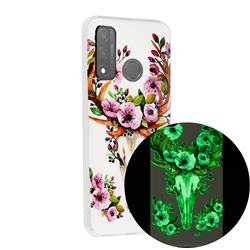 Sika Deer Noctilucent Soft TPU Back Cover for Huawei P Smart (2020)