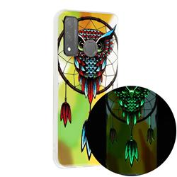 Owl Wind Chimes Noctilucent Soft TPU Back Cover for Huawei P Smart (2020)