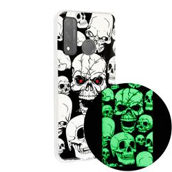 Red-eye Ghost Skull Noctilucent Soft TPU Back Cover for Huawei P Smart (2020)