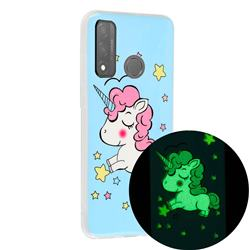 Stars Unicorn Noctilucent Soft TPU Back Cover for Huawei P Smart (2020)