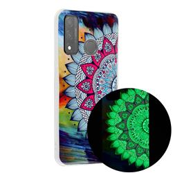 Colorful Sun Flower Noctilucent Soft TPU Back Cover for Huawei P Smart (2020)