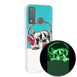 Headphone Puppy Noctilucent Soft TPU Back Cover for Huawei P Smart (2020)