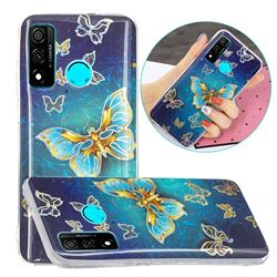 Golden Butterfly Painted Galvanized Electroplating Soft Phone Case Cover for Huawei P Smart (2020)