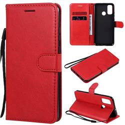 Retro Greek Classic Smooth PU Leather Wallet Phone Case for Huawei P Smart (2020) - Red