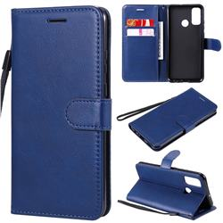 Retro Greek Classic Smooth PU Leather Wallet Phone Case for Huawei P Smart (2020) - Blue
