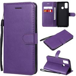 Retro Greek Classic Smooth PU Leather Wallet Phone Case for Huawei P Smart (2020) - Purple