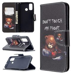 Chainsaw Bear Leather Wallet Case for Huawei P Smart (2020)