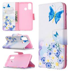 Butterflies Flowers Leather Wallet Case for Huawei P Smart (2020)