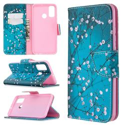 Blue Plum Leather Wallet Case for Huawei P Smart (2020)